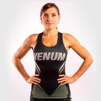 Women Shirt Venum ONE FC Impact Dry Tech black / khaki Tank top