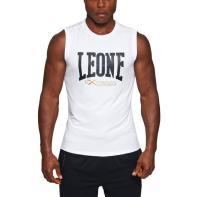 T-shirt Sleeveless Leone Logo white