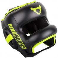 Headgear Venum Ringhorns Nitro black neo yellow  By Venum