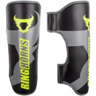 Shinguards Ringhorns Charger Black Neo Yellow By Venum