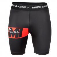 Tatami Compression Shorts Red Bar VT black
