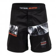 MMA Shorts Tatami Tropic Black Grappling Shorts