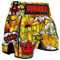 Muay Thai Shorts Buddha Retro Baam yellow Kids