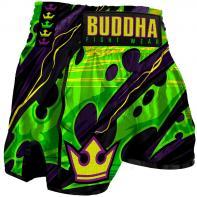 Muay Thai Shorts Buddha Retro Dark Green Kids