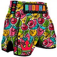 Muay Thai Shorts Buddha Retro Fruit Kids