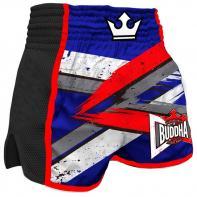 Muay Thai Shorts Buddha Retro Infinity blue