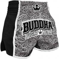 Muay Thai Shorts Buddha Retro Tattoo Kids