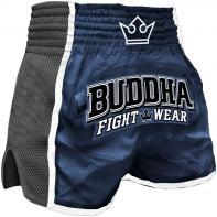 Muay Thai Shorts Buddha Retro X Blue