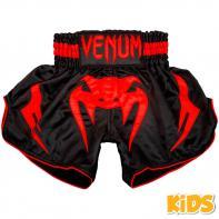 Muay Thai Shorts Venum Inferno Red Devil Kids